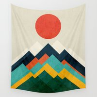 outdoor Wall Tapestries featuring The hills are alive by Picomodi