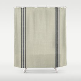 Vintage Country French Grainsack Grey Gray Stripes Linen Color Background Shower Curtain
