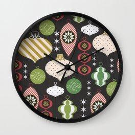 Christmas Vintage Ornaments Wall Clock