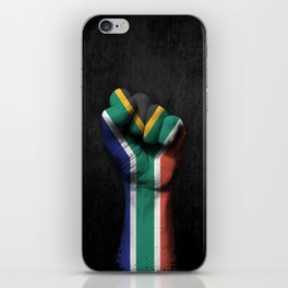 South African Flag on a Raised Clenched Fist iPhone Skin