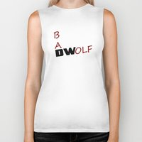 bad wolf Biker Tanks featuring Bad Wolf by DocPastor