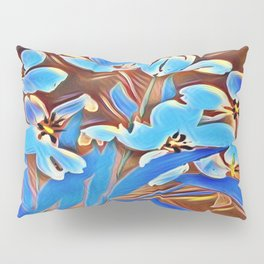 Painted Forget Me Nots Pillow Sham