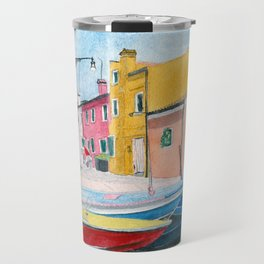 Burano Italy Travel Mug