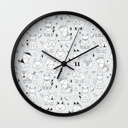 Origami cats Wall Clock