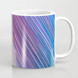 ocean blue of rays light aesthetic lines abstract textile print Coffee Mug