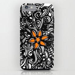 Burst of Swirls Doodle iPhone Case