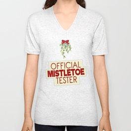 Official Mistletoe Tester Unisex V-Neck