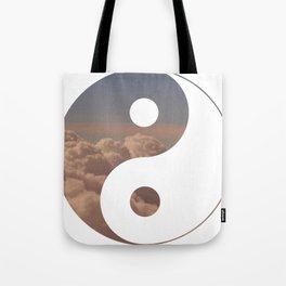 Yin Yang Clouds Tote Bag