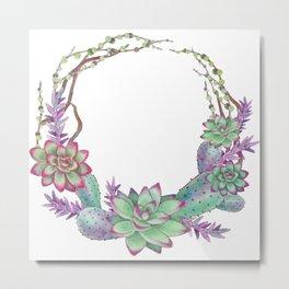 Succulent Plants Metal Print