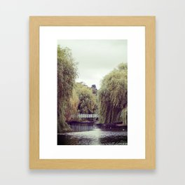 Park Bridge. Framed Art Print