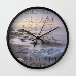 Thoughts at Sunset Wall Clock