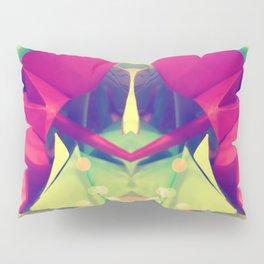 Senbazuru | pink and green Pillow Sham