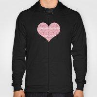 Patterned Hearts Pattern Hoody