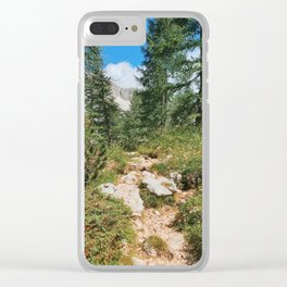 Path through the mountain forest Clear iPhone Case