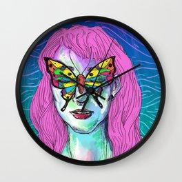 Butterfly Eyes Wall Clock
