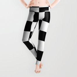 Checkered Pattern: Black & White Leggings