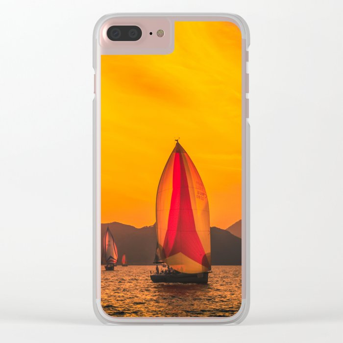 Solar wind Clear iPhone Case