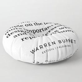 57 | Warren Buffett Quotes | 190823 Floor Pillow