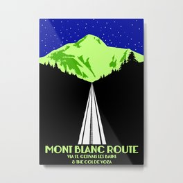 Mont Blanc Alps railway route Metal Print