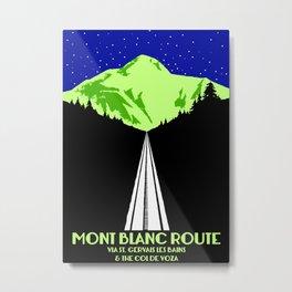 Mont Blanc Alps railway route Metal Print