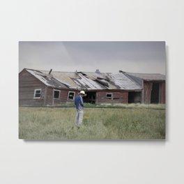 Lonely Barn Metal Print