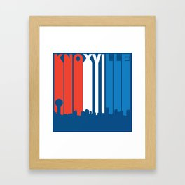 Red White And Blue Knoxville Tennessee Skyline Framed Art Print