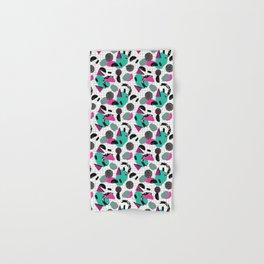 Cha Ching - abstract throwback memphis retro 80s 90s pop art grid shapes Hand & Bath Towel