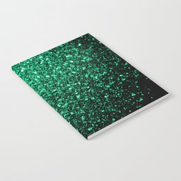 Beautiful Emerald Green glitter sparkles Notebook