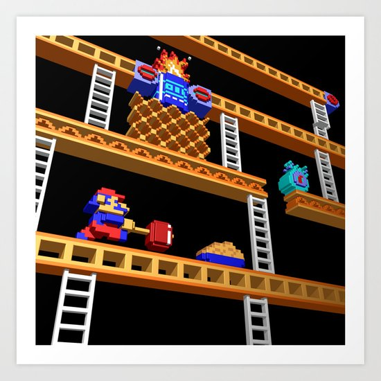 Inside Donkey Kong stage 2 Art Print