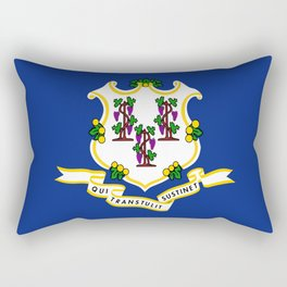 flag Connecticut,america,us,new England,constitution,Connecticuter,Yale,Nutmegger,Hartford Rectangular Pillow