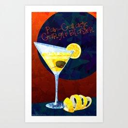 Pan Galactic Gargle Blaster Poster Art Print