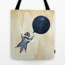 Raccoon Balloon Tote Bag