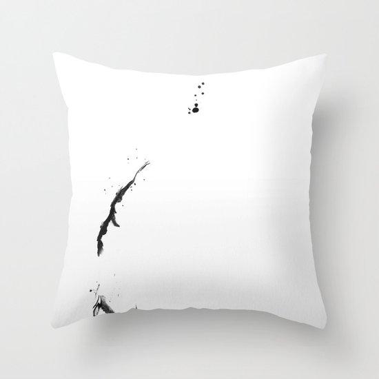 balloon as vase 1/4 Throw Pillow
