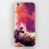 cheetah iPhone & iPod Skins featuring Cheetah by Fallen Apple Designs
