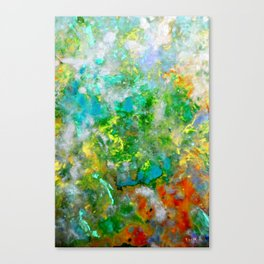 Abstract Art in Color Symphony Green Canvas Print