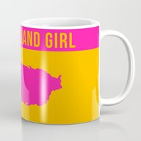 puerto rico Mugs featuring Puerto Rico Island Girl by Nicole Alvarez Lefranc