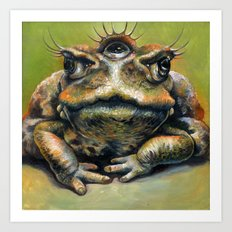 Toad Queen Art Print