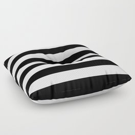Black & White Stripes- Mix & Match with Simplicity of Life Floor Pillow