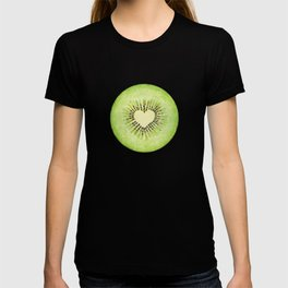Kiwi illustration, green fruit T-shirt