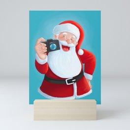 Santa Claus photographer Mini Art Print