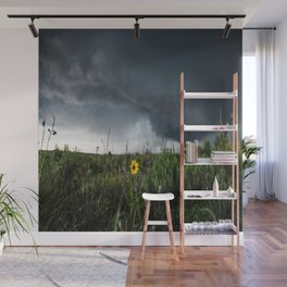 Stormflower - Sunflower and Storm in Texas Wall Mural