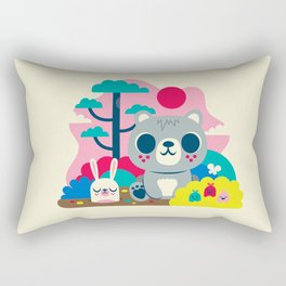 Woodland Bear and Bunny / Cute Animals Rectangular Pillow