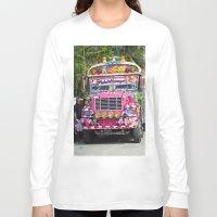 diablo Long Sleeve T-shirts featuring Diablo rojo bus by lennyfdzz