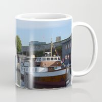 oslo Mugs featuring Minesweeper Alta In Oslo by Malcolm Snook
