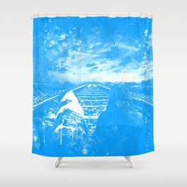 wanderlust wswb Shower Curtain