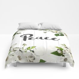 FLORAL DESIGN PEACE Comforters