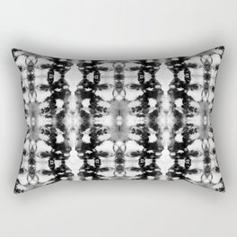 Tie-Dye Blacks & Whites Rectangular Pillow