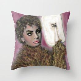 The Werewolf Pondering Throw Pillow