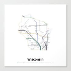 Highways of the USA – Wisconsin Canvas Print