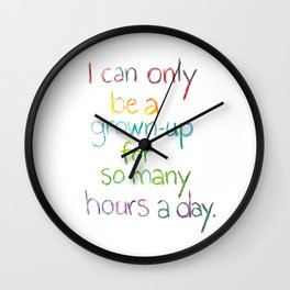 Grown-up Hours Wall Clock